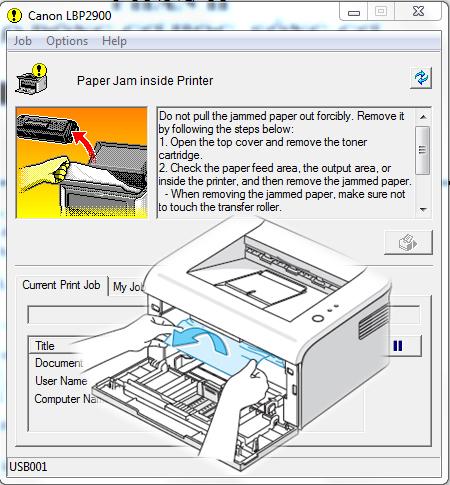 Sửa lỗi kẹt giấy CANON 2900