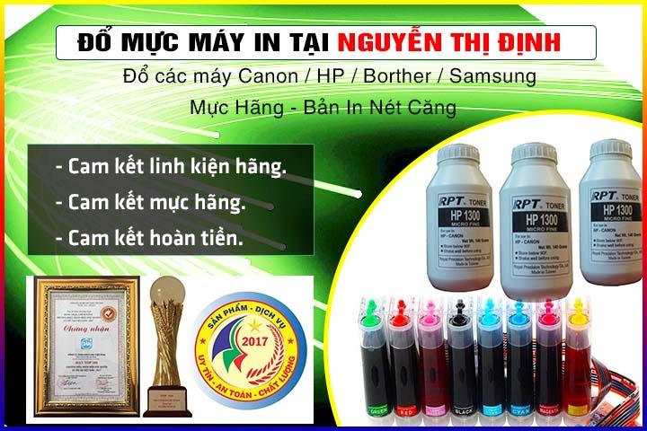 Đổ mực máy in tại Nguyễn Thị Định