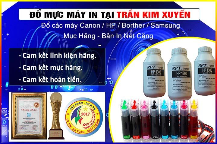 Đổ mực máy in tại Trần Kim Xuyến