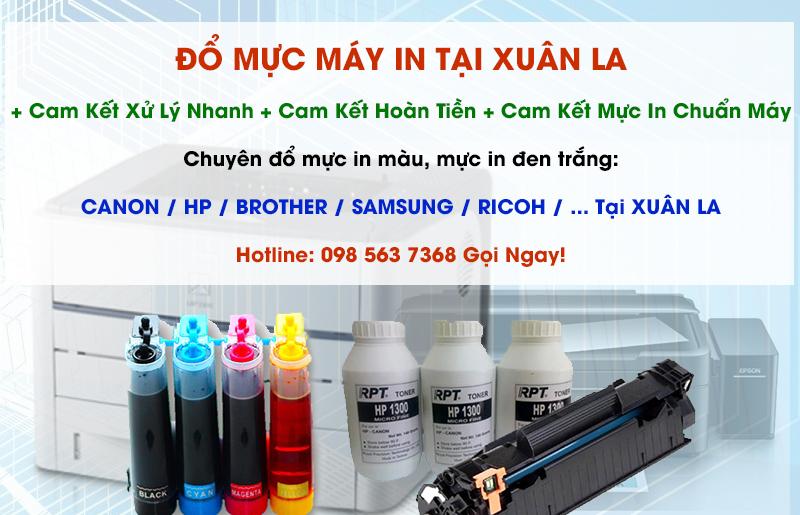Đổ mực máy in tại Xuân La